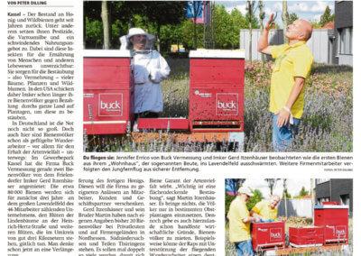 presseveröffentlichung, buck vermessung, vermessungsbüro, buck bienen, honigbiene, beerent, gerd itzenhäuser