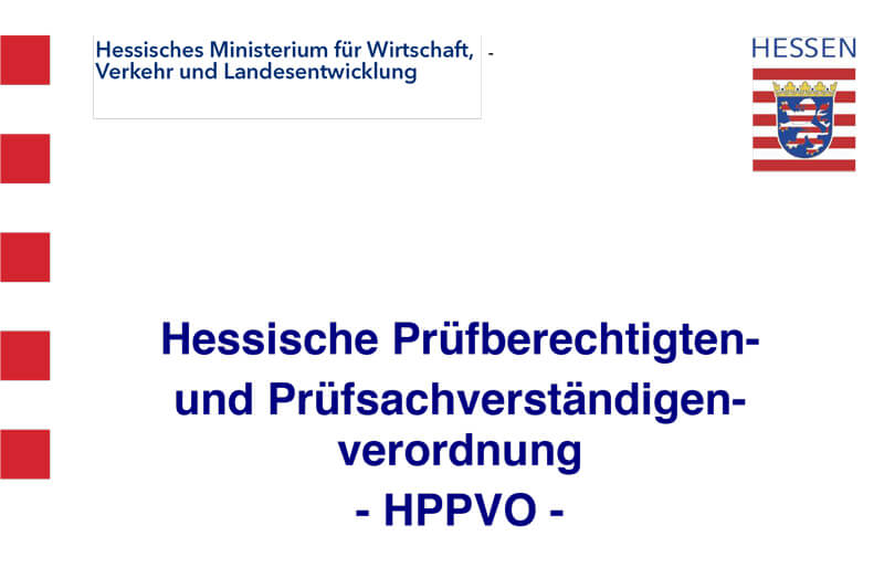 Hessische Prüfberechtigten und Prüfsachverständigenverordnung
